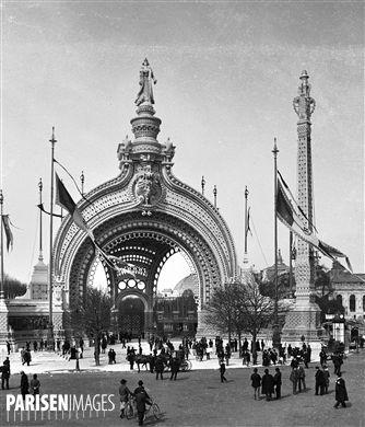 Exposition universelle de 1900, Paris. La porte monumentale.