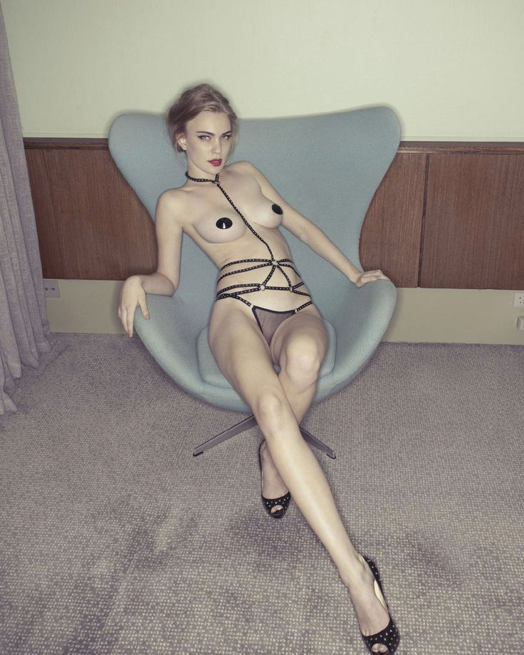 Agent Provocateur | Bullit Playsuit, thong & nipple pasties | Louboutin heels | Karoline E lensed by Michael Maximillian Hermansen