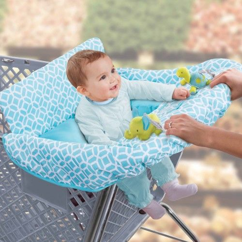 Protect your baby from germs on shopping carts or restaurant high chairs with the cushy cart cover the removable bolster positioner adds extra support and