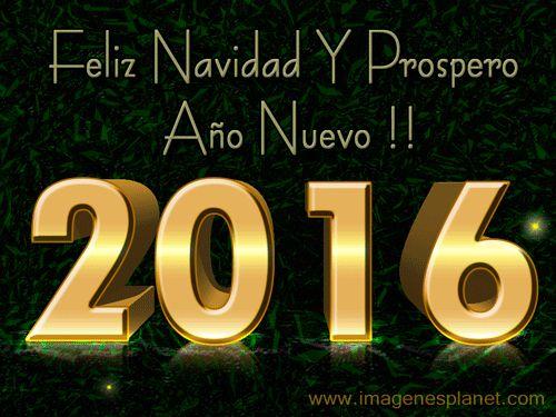 Tarjeta de feliz navidad y prospero año nuevo 2016