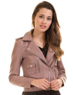 405d1f67496 Cazadora motera rosa MNGARCON de Noisy May | chaquetas. | Cazadora cuero,  Cazadoras mujer y Cazadora piel
