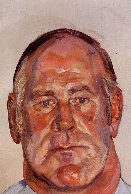 Head of the Big Man, 1975  Lucian Freud.  Such realism with obvious…
