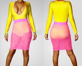 Sexy Dew Chest Bright Yellow Pink Clubwear Dresses SJ-SJ2011 http://www.lover-fashion.com/Sexy-Dew-Chest-Bright-Yellow-Pink-Clubwear-Dresses-SJ-SJ2011-p9138.html