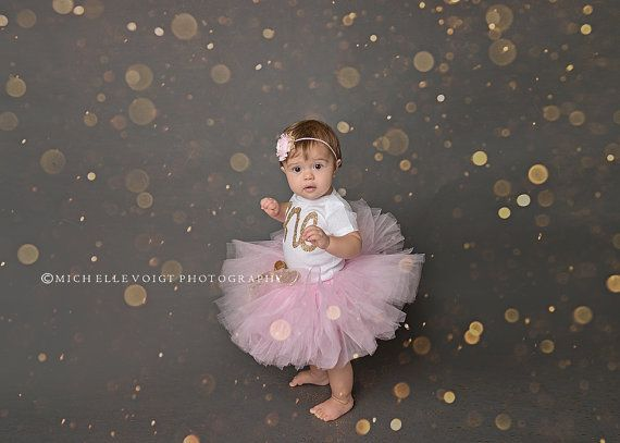 Gahhhhh  Gold first birthday bodysuit and Pink Tutu by HelloButtercup