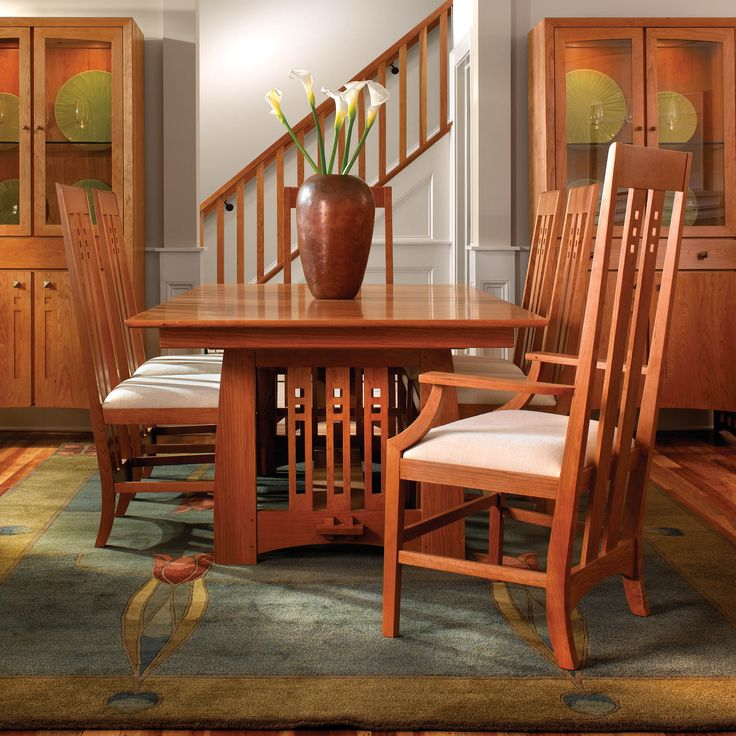 Stickley Furniture Highlands Dining Table U0026 Chairs