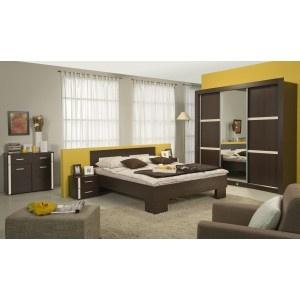 Dormitor Harmony - Pat Brkt + 2 noptiere + Suport wenge
