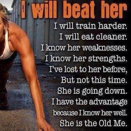 Don't let the 'old you' boss the 'new you' around. Be better than you were before!
