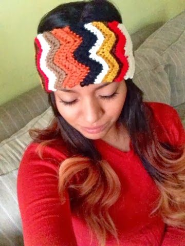 Yarn Over, Chain One: Chevron Headband