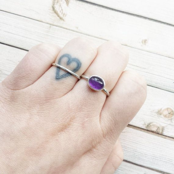 Handmade Amethyst Ring Birthstone Ring February by MarleeCWatts