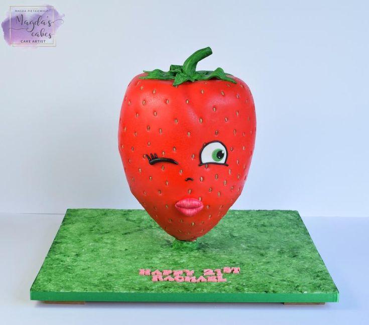 Giant strawberry :)  by Magda's Cakes (Magda Pietkiewicz)