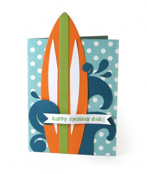 27 best surf board cards images on pinterest beach cards for Surfboard craft for kids