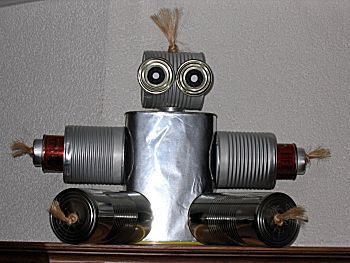 Knutselwerkje Robot van knutselidee.nl