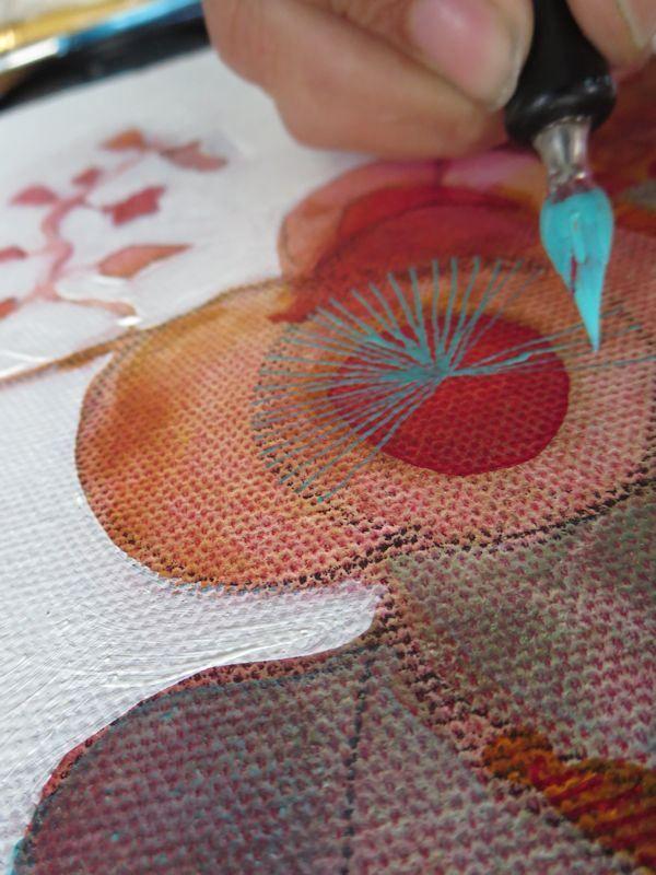 ARTiful, painting demos by Sandrine Pelissier