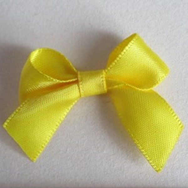 SATIN BOWS APPROXIMATELY 4cm ACROSS PANTONE COLOUR CHART -645 DAFFODIL WEDDING STATIONERY SUPPLIES FROM www.vintagelaceweddingcards.co.uk PLEASE SHARE