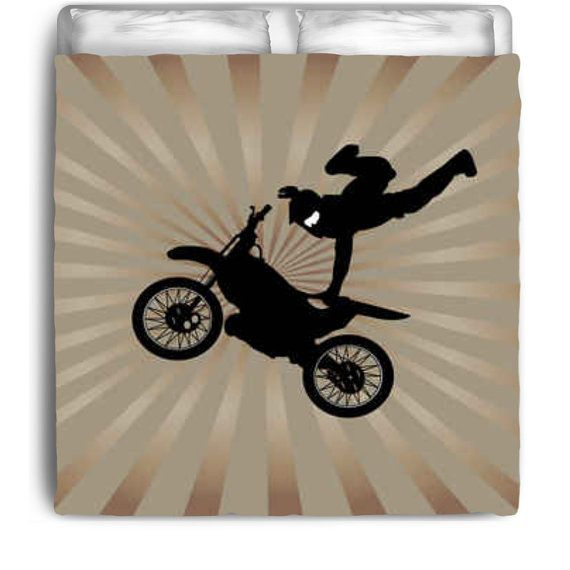 Eco Friendly Kids Motocross Comforter from by KidsBeddingCompany