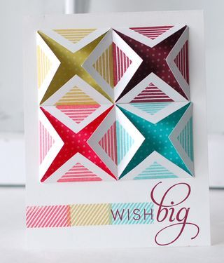 Wish Big Card by Betsy Veldman for Papertrey Ink (September 2013)