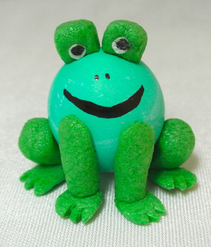 Hard Boiled Egg Frog Decorated With Magic Nuudles