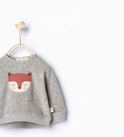 Image 1 of Fox sweatshirt from Zara
