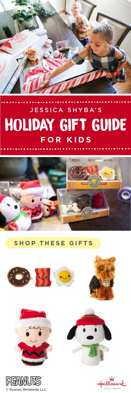 Hallmark Gold Crown partnered with Jessica Shyba to create this special Gift Guide for Kids. Make your home a happy one by adopting this plush pooch. Collect Charlie Brown and all the other itty bittys Peanuts® characters like Woodstock and Lucy to the new Snoopy's Dog House itty bittys Carrier for a wonderful Christmas tradition. Love the idea of giving them as a little gift or stocking stuffer.