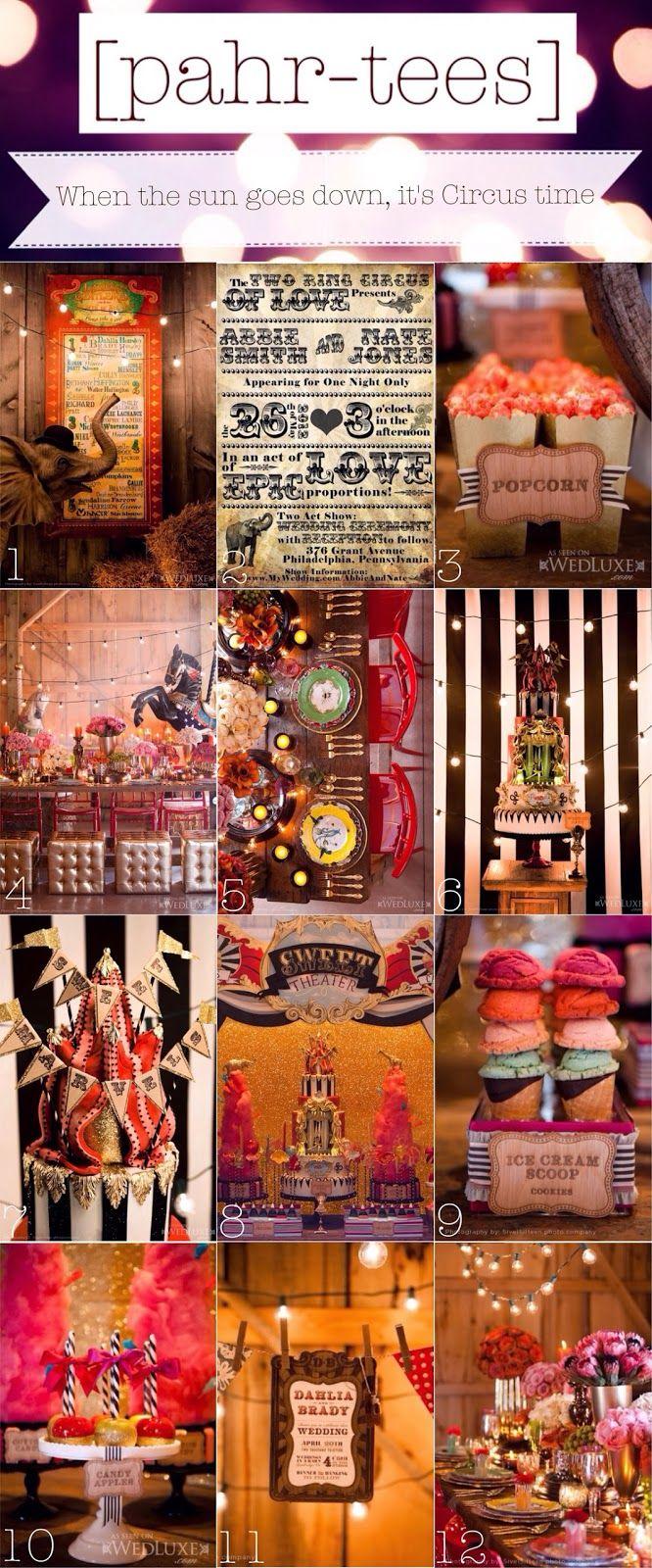 Moodboard Vintage Circus Theme Party pahr teesblogspotcom