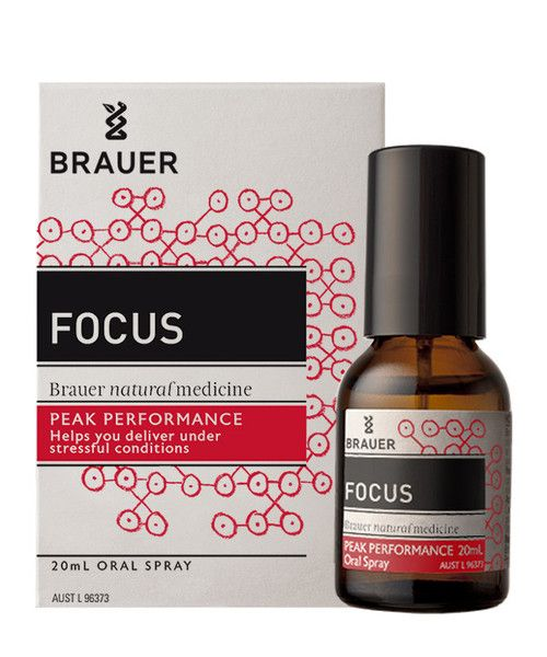 Focus Oral Spray 20mL- Focus Oral Spray includes ingredients such as Korean Ginseng and Valerian which are traditionally used in homeopathic medicine to help relieve nervous tension, stress and mild anxiety. Focus may therefore be benefincial during times of stress such as exams, interviews and public speaking, helping you to remain focused and perform at your best.