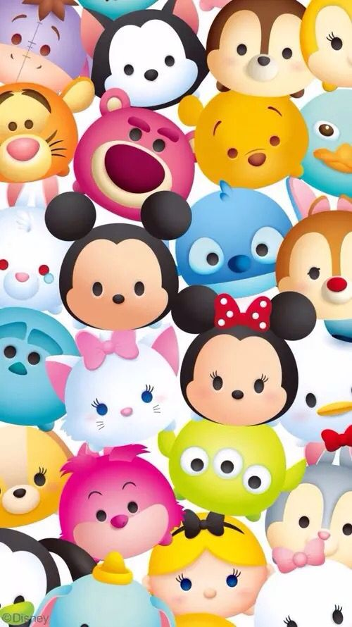 Tsum Tsum!! So cute! | Wallpaper | Fondos para iphone ...
