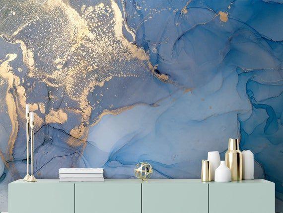 Art Wallpaper Peel And Stick Self Adhesive Marble Wall Mural Etsy Mural Wallpaper Gold Wallpaper Living Room Marble Wall Mural