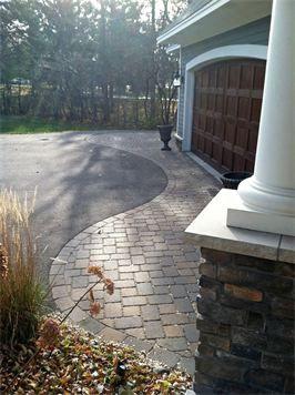 Driveway apron/Scallon Design  - Eagan, MN Architectural Landscape Design