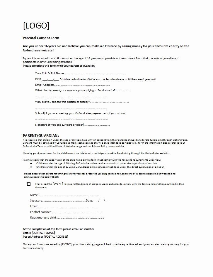 30 Parents Consent Form Template In 2020 With Images Consent