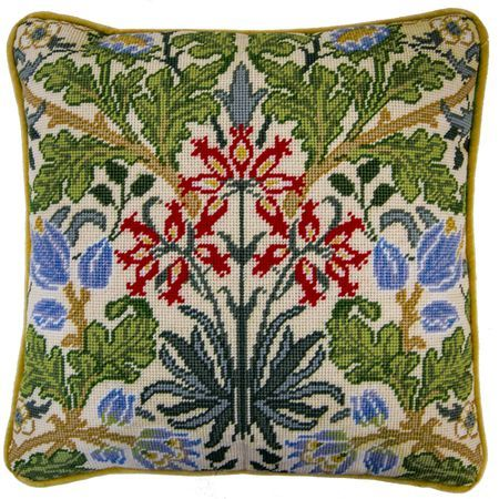 One of a series of designs from the William Morris Collection, this Hyacinth Tapestry Panel Kit is rich in colour and texture, it features a vibrant floral design that allows you to create a gorgeous piece of home decor for your interior.