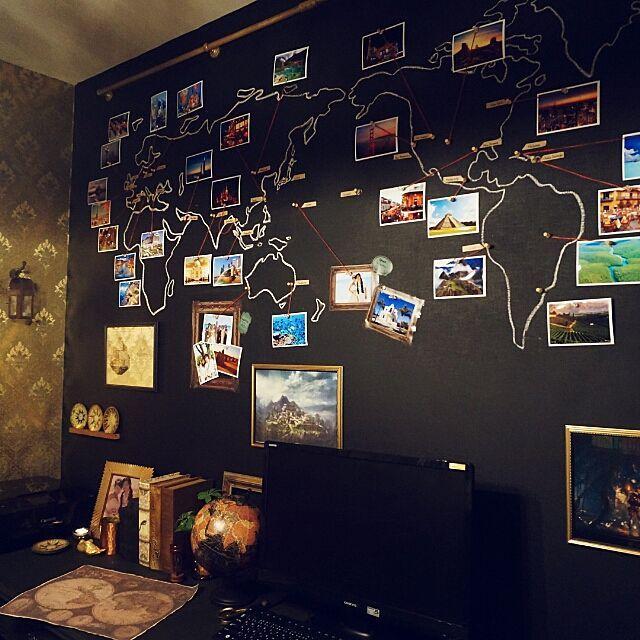 女性で、3LDKの黒板ペンキ/世界地図/セルフリフォーム/DIY/ペイントアート/On Walls…などについてのインテリア実例を紹介。(この写真は 2015-02-24 18:40:00 に共有されました)
