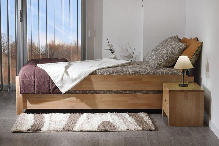 Stapelbett Gästebett 2x Kinder-Einzel-Bett 90x200 Kernbuche massiv 2x Lattenrost