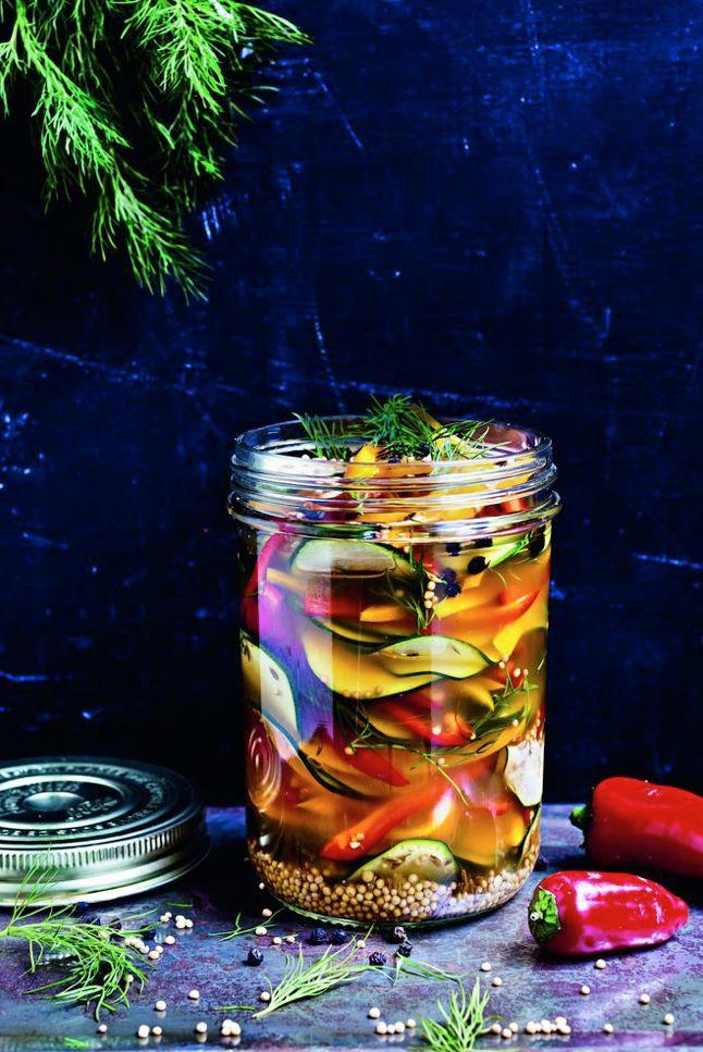 Lieblingsrezept: Eingemachtes Zucchini-Paprika-Gemüse