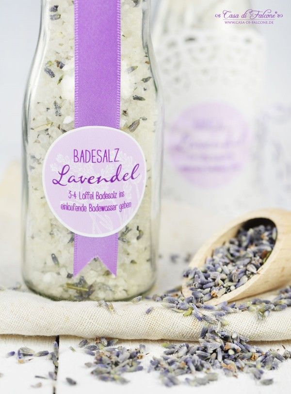 Lavendel Badesalz selbstgemacht I homemade bath salth I Geschenke aus der Küche I homemade gift I Gastgeschenke I Casa di Falcone