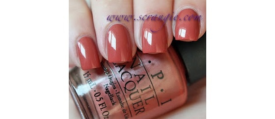 New Opi Quot Schnapps Out Of It Quot Terracotta Burnt Orange Polish Free Shipping 9 95 Nail