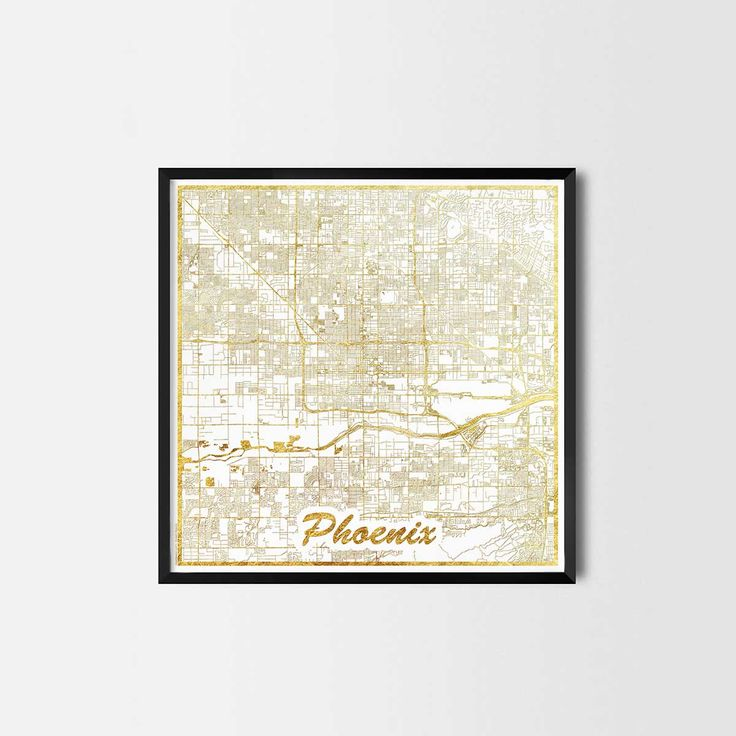 Phoenix map posters are high quality map art prints of a great city. Perfect for the house and office or as a gift for a friend. Interior gift travel