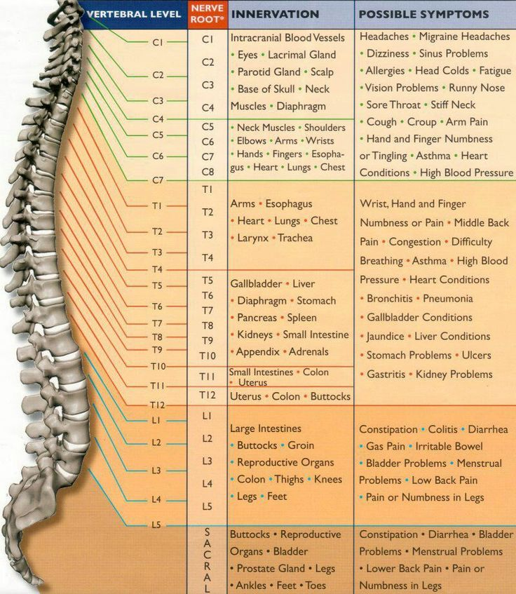 No wonder, my spine is full of lesions. My brain only a few.