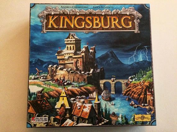 In this multi award winning strategy board game by Stratelibri and Elfin Works #kingsburg #strategygames #strategyboardgame #boardgame #awardwinning #boardgamegifts #bestboardgames #expansion #citybuilding #kingsburggame