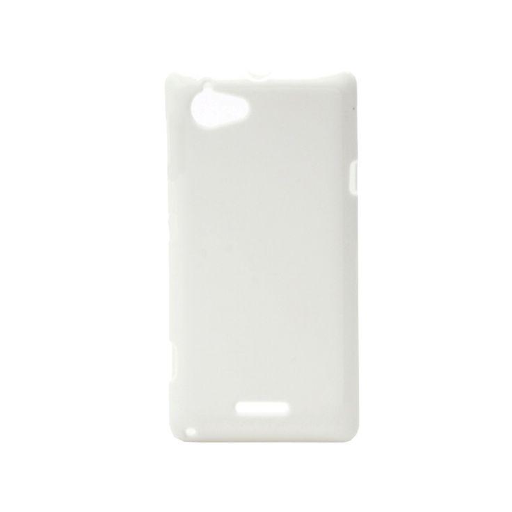 Θήκη σιλικόνης για Sony Xperia L - άσπρη