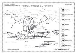 Cwiczenia Anaruk Chlopiec Z Grenlandii Superkid Kolorowanki