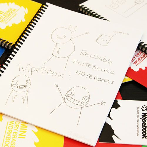 This notebook is full of reusable whiteboard pages! Brilliant!