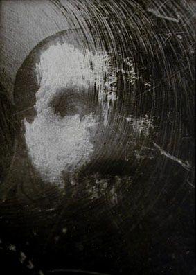 """Paolo Gioli, """"Sconosciuto"""" (Unknown), 1994, stampa in bianco e nero, cm 30x24"""