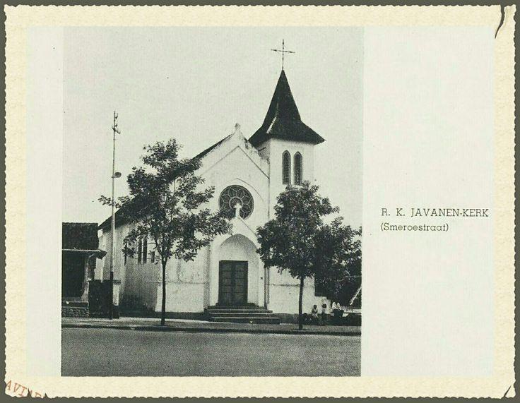 R.K. Javaanen kerk Malang voor 1939.