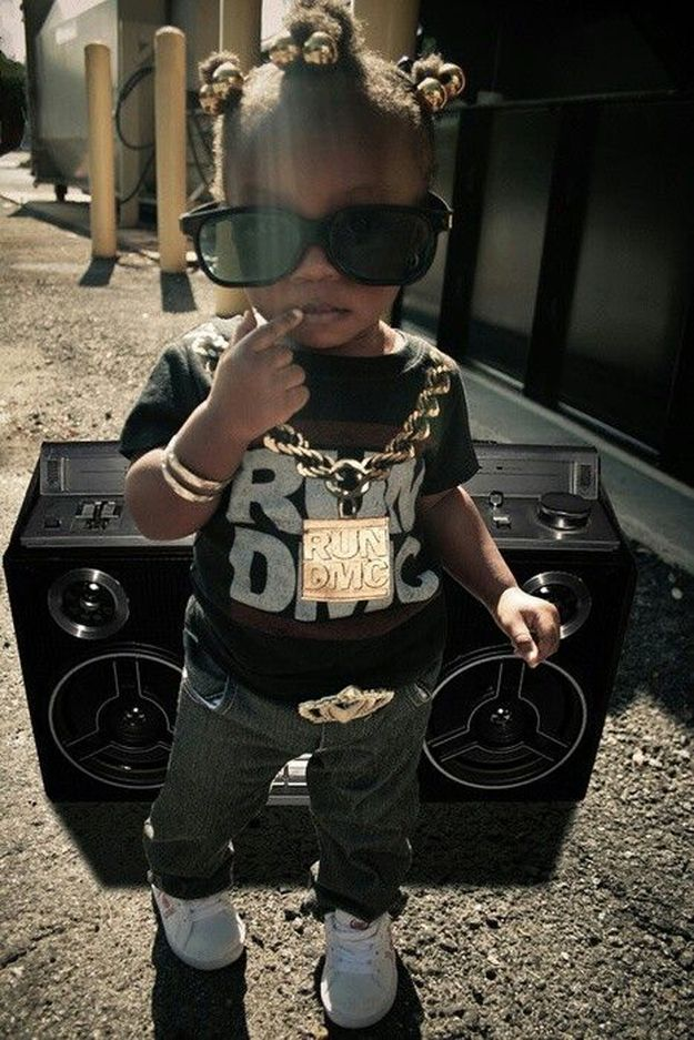 Run DMC Style. This kid is probably cooler than you.