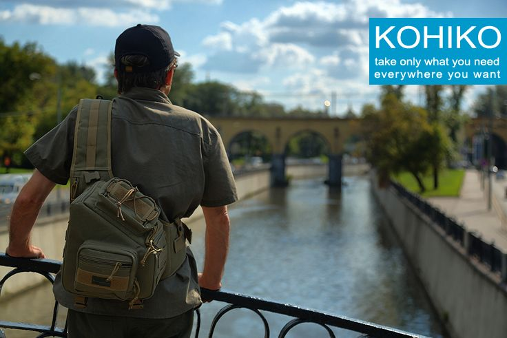 Kiwidition® KOHIKO™ Sling Camera Backpack for travel photographers.