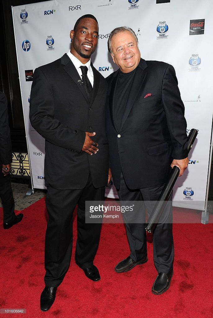 Justin Tuck of the NY Giants and actor Paul Sorvino attend NY Giant Justin Tuck's Celebrity Billiards Tournament at Slate on June 3, 2010 in New York City.