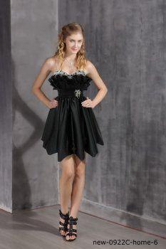 Bracelet noir spaghetti robe robe courte sexy