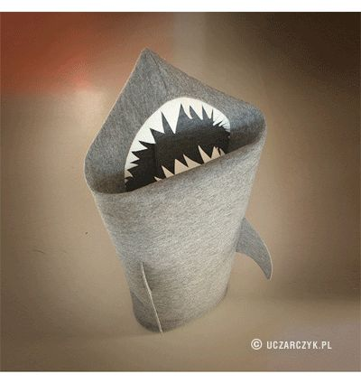 SHARK. Felt laundry basket for bathroom or children's room as a basket for toys from © Uczarczyk.
