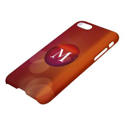 Red Create Your Own Monogram Apple Iphone Case - initial gift idea style unique special diy