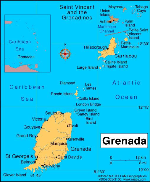 People From Grenada | map grenada grenada profile history government economy population